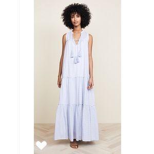 Free People Tiered Tassels Striped Maxi Dress